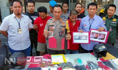 Seorang residivis pembakaran rusun di Surabaya bernama Imam Ghozali (29) warga Pamekasan ditembak kakinya oleh Polrestabes Surabaya. (Foto: Tri Wahyudi/NUSANTARANEWS.CO)