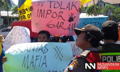 Tolak Garam Impor, PMII Demo DPRD Jatim, nusantaranewsco