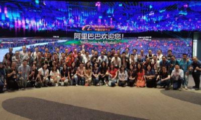 Para peserta program Alibaba Netpreneur Training Indonesia usai berkunjung ke Museum Alibaba di kantor pusat Alibaba Group di Hangzhou, Tiongkok. (FOTO: Istimewa)