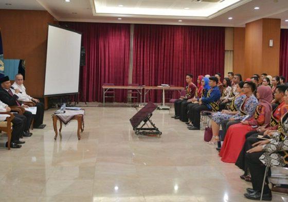 Audiensi Duta Bahasa dengan Mendikbud Muhadjir Effendy. (FOTO: Istimewa)