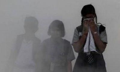Gangguan Pernapasan akibat asas yang ditimbulkan Karhutla di Riau. (FOTO: Istimewa)