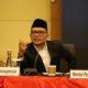 Menaker M Hanif Dhakiri saat menjadi narasumber konferensi pers RAPBN T.A. 2020 di Kantor Pusat Ditjen Pajak Kemenkeu, Jakarta (16/8). (FOTO: Dok. Naker)