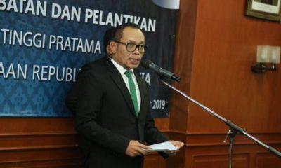 Menteri Ketenagakerjaan M. Hanif Dhakiri saat sambuta pada acara pelantikan dan pengambilan sumpah jabatan pejabat pimpinan tinggi pratama, Jakarta (5/8/2019). (FOTO: Humas Kemnaker)