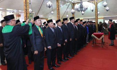 Pelantikan Anggota DPRD Sumenep Periode 2019-2024 di Pendopo Agung Karaton. (FOTO: NUSANTARNANEWS.CO/Mahdi)