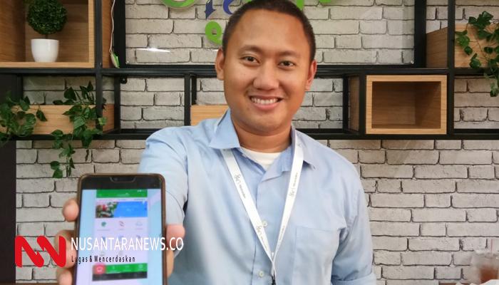 Pencetus starup digital Nyayur.id Imam Pesuwaryantoro sedang pamerkan aplikasi pertanian pintar (Foto Dok. Nusantaranews.co).