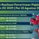 Realisasi Penerimaan Triwulan III 2019 Kaltara Capai 61,34 Persen. (Infografis/Humas Kaltara)