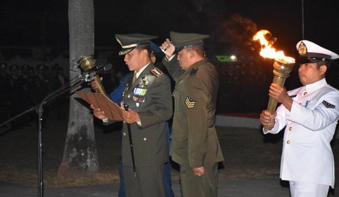 Renungan Suci di Malam HUT RI ke-74 di Kota Mojokerto. (FOTO: NUSANTARANEWS.CO/Istimewa)