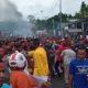 Situasi terkini unjuk Rasa di Manokwari. (FOTO: NUSANTARANEWS.CO)