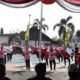 Tari Kolosal Indonesia Bekerja Indonesia Jaya Sambut HUT RI ke-74. (FOTO: NUSANTARANEWS.CO)