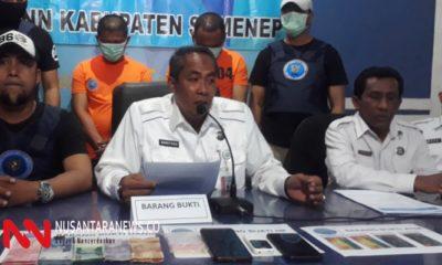 BNN Kabupaten Sumenep Mengadakan Konferensi Pers. (Foto: NUSANTARANEWS.CO/Mahdi)