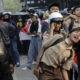 Bentrok ratusan pelajar dengan kepolisian di belakag Gedung DPR. (Foto Dok. CNN Indonesia)