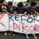 Demo Hasiswa Menolak Revisi UU KPK dan RUU RKUHP