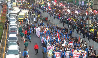 Ilustrasi Aksi Demo 30 September 2019 atau Aksi D30S di Depan Gedung DPR (Foto Dok. Merdeka).