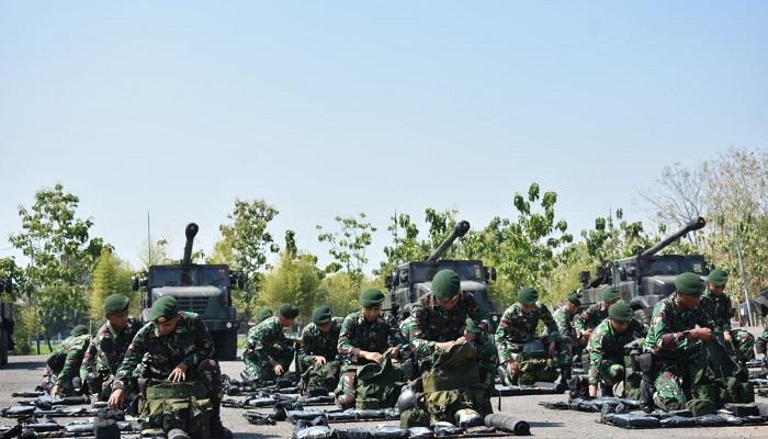 latgab tni 2019, armed, kostrad, gelar pasukan, alutsista, ngawi, nusantaranews