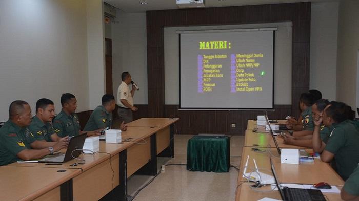 Kaderisasi Sisfopers Online, Input Data Kemiliteran. (FOTO: NUSANTARANEWS.Co)
