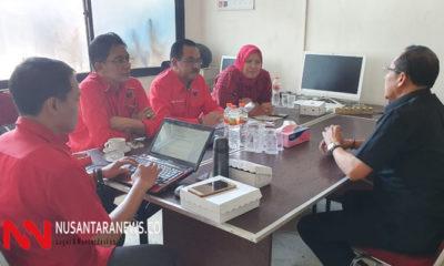 Kadis ESDM Jatim Setiadjid mengadu keberuntungan di DPD PDIP Jatim untuk mendapatkan rekomdasi maju di Pilkada Tuban. (Foto: NUSANTARANEWS.CO/Setya)