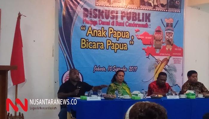 Kegiatan Diskusi Bertajuk Anak Papu Bicara Papua di Gedung Juang 45. (Foto: NUSANTARANEWS.CO/Syam Sanggolo)