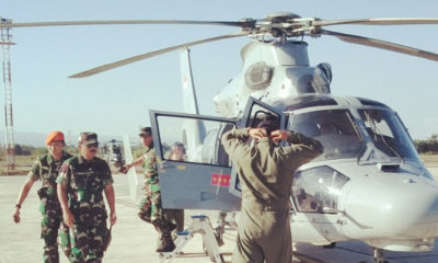 Panglima TNI Hadi Tjahjanto Mendarat ke Banyuwangi. (Foto Dok. Istimewa)