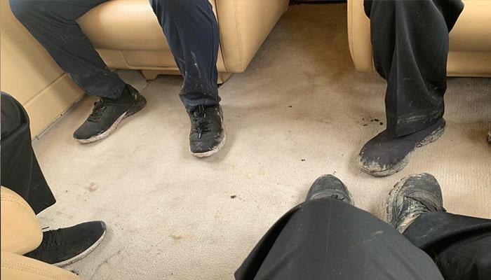 Pramoni Anung Pamer Sepatu Kotor di Atas Heli Kepresiden Bersama Jokowi (Foto Ig Pramono Anung)