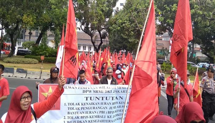 serikat rakyat miskin, rakyat miskin indonesia, tolak kenaikan, iuran bpjs, bpjs kesehatan, nusantaranews, nusantara news
