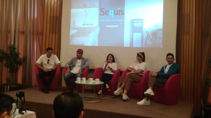 Sharena Delon dan Ryan Delon Sequis dalam acara Live Screening Web Series Sequis Kopi Paste di Auditorium Sequis Center Lt 11 Jl. Jend Sudirman No 71 Jakarta, Kamis, 26 September 2019. (FOTO: NUSANTARANEWS.CO/Achmad)