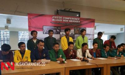 Aliansi BEM Merdeka Tolak Usulan Penerbitan Perppu KPK Hasil Revisi. (Foto Dok. NUSANTARANEWS.CO)