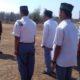 babinsa, mengajar wasbang, latihan baris-berbaris, ma al-ibrohimy, konang, bangkalan , nusantara news