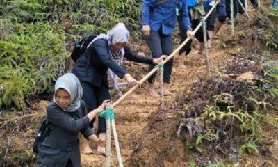 Diguyur Hujan, Bupati Nunukan Jalan Kaki Peringati Hari Sumpah Pemuda
