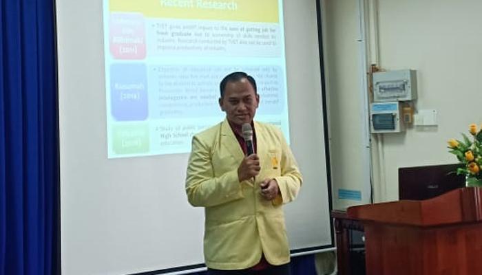 Fajar Mahasiswa S3 UNNES Semarang Angkat Pendidikan Vokasi di Ho Chi Minh University. (Foto Istimewa)