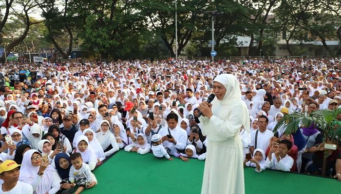 hari santri nasional, gubernur khofifah, serukan doa bersama, heningkan cipta, nusantaranews