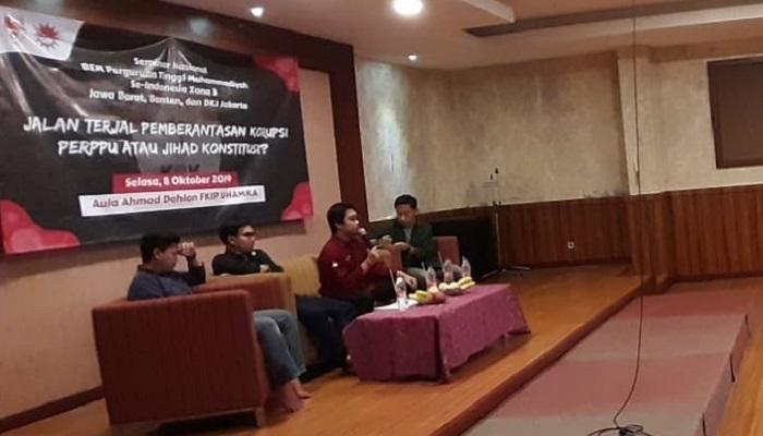 Diskusi tentang polemik Perppu Revisi UU KPK di Surabaya. (Foto: Istimewa)