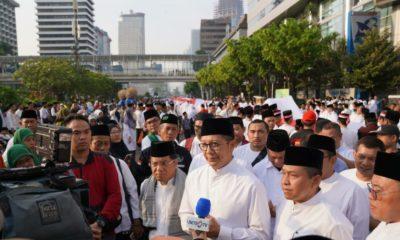 Gelar Parade Hari Santri 2019, Menteri Agama Lukman Hakim Saifudin Sebut Santri Sebagai Duta Perdamaian. (Foto: Romadhon/NUSANTARANEWS.CO)