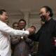 Pertemuan Prabowo Subianto dengan Surya Paloh. (Foto Antara)