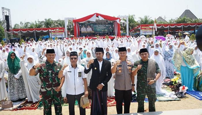 Apel Akbar Hari Santri Nasional di Kabupaten Madiun, Jatim, Selasa (22/10/2019). (Foto: Istimewa)