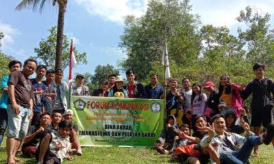 Para pelajar dari pedalaman Nunukan menggelar kegiatan Bina Akrab di Danau Sleding Nunukan. (Foto: Eddy S/NUSANTARANEWS.CO)