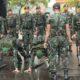 Diterjang Panas dan Hujan, Tim Peleton Gerak Jalan Ajusta Tetap Berlatih. (FOTO: Dok. Menarmed 2/Kostrad)