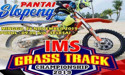 ims grass track, pantai slopeng, sumenep, nusantaranews, visit sumenep 2019, grass track championship