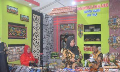 Stand pamerah produk UMKM Sumenep Jawa Timur