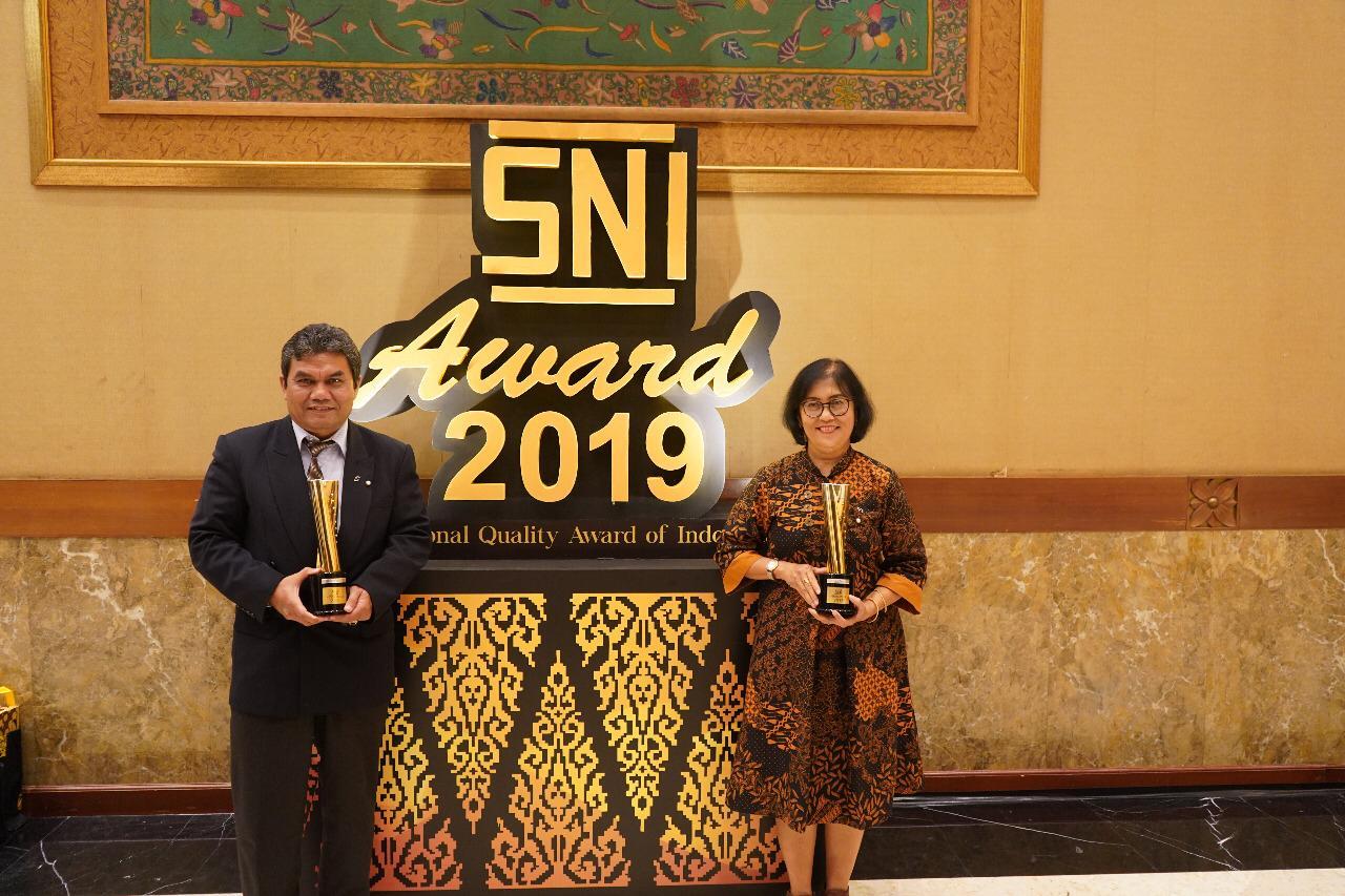 Kementan Raih Dua Penghargaan Perak SNI Award 2019