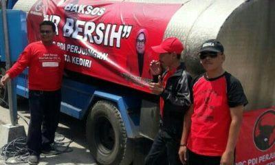 Kekeringan Panjang,PDIP Kirim Air Bersih untuk Warga Kota Kediri
