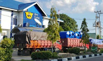 Dum Truck bermuatan barang barang ilegal yang diamankan Tim Pol Airud Polda Kaltara.