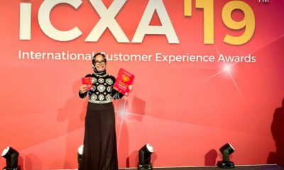 Project Director Customer Experience Transformation TelkomGroup Sri Safitri usai menerima Penghargaan International Customer Experience (CX) Awards 2019 di Amsterdam, Kamis (21/11). Telkom meraih penghargaan Gold Medal untuk Kategori Best CX Strategy dan Best CX Team serta Bronze Medal untuk Kategori Best CX Transformation.