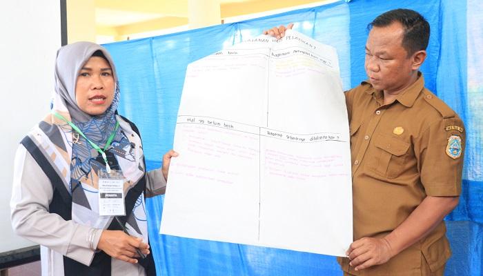Guru mata pelajaran (mapel) SMP dan MTsN di Kabupaten Tanjab Timur diberikan pelatihan modul II praktik baik dalam pembelajaran. (Foto: Istimewa)