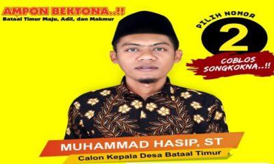 muhammad hasip, calon kepala desa, bataal timur ganding, sumenep, nusantara news