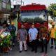 Sesi seremonial Pemotongan Pita yang dilakukan perwakilan PT Pertamina dan Elnusa Petrofin Gelar Go Live Pengelolaan Mobil Tangki BBM. (FOTO: Dok. Elnusa Petrofin)