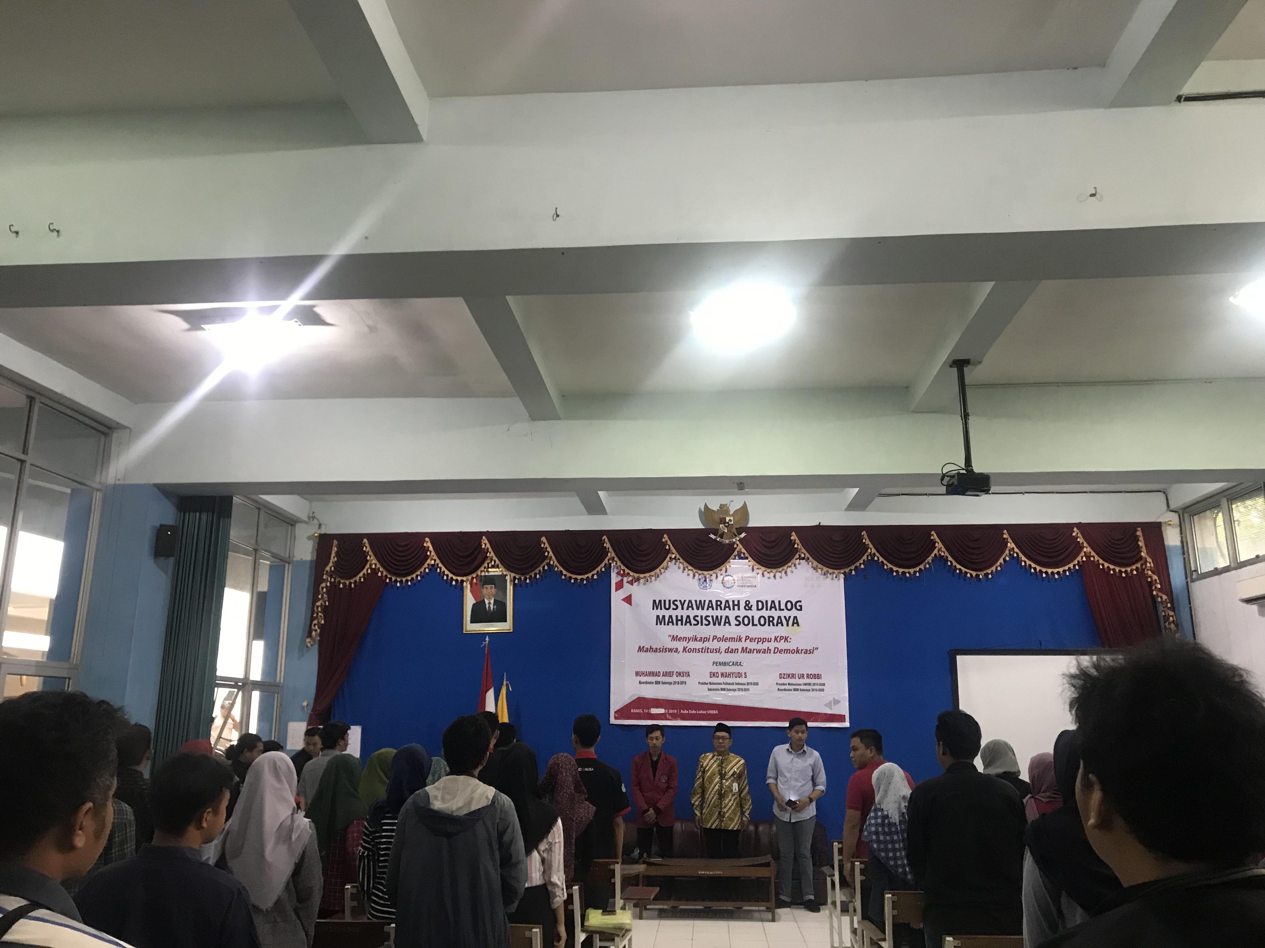 Siap Kawal Uji Materi di MK, BEM Soloraya Kompak Tolak Perppu KPK