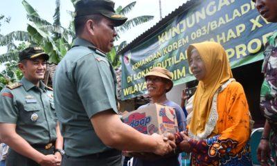 Danrem 083/Baladhika Jaya, Kolonel Inf Zainuddin ketika meninjau berlangsungnya perkembangan program Rutilahu di Kabupaten Probolinggo, Jawa Timur. Jumat, 06 Desember 2019.