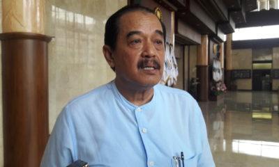Ketua KONI Jatim Erlangga Satriagung saat ditemui di Surabaya, Senin (2/12/2019).
