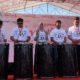 Direktur Consumer Service Telkom Siti Choiriana (tengah) bersama Executive Vice President Telkom Regional IV Jateng & DIY Djatmiko (paling kiri), Executive Vice President Telkom Regional III Jawa Barat Pontjo Suharwono (kedua dari kiri), Executive Vice President Telkom Regional V Jatim, Bali, Nusra Suparwiyanto (kedua dari kanan), dan Executive Vice President Telkom Regional VII KTI Aris Dwi Tjahjanto (paling kanan) menabuh genderang sebagai tanda launching IndiHome 1 Gbps di Denpasar, Minggu (22/12).