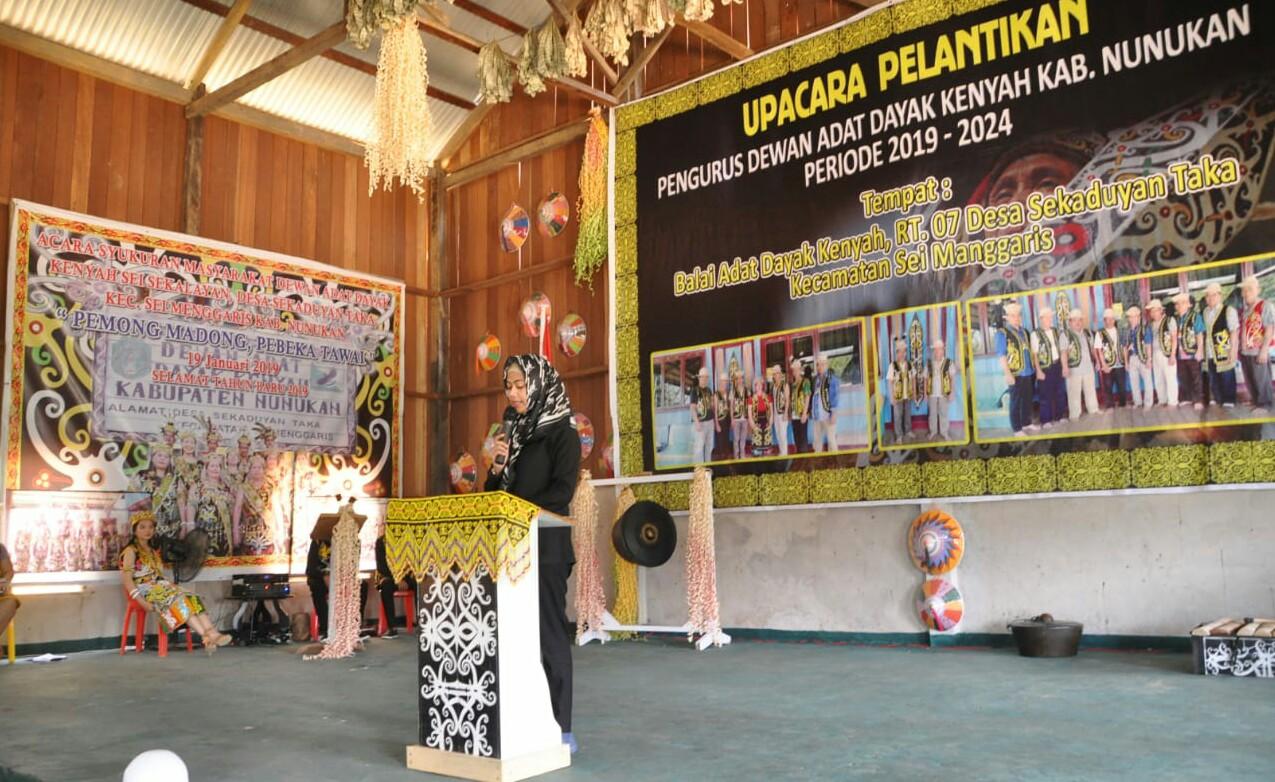 Bupati Nunukan, Asmin Laura Hafid harapkan pengurus Dewan Adat Dayak Kenyah dapat menjadi bagian dari agen perubahan.